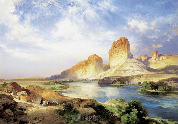Green River, Wyoming, 1907   Thomas Moran   Gemälde Reproduktion
