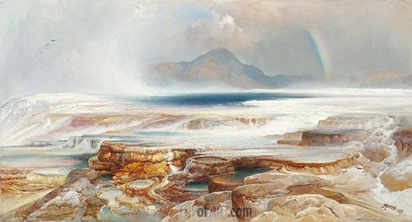 Heiße Quellen des Yellowstone, 1872 | Thomas Moran | Gemälde Reproduktion