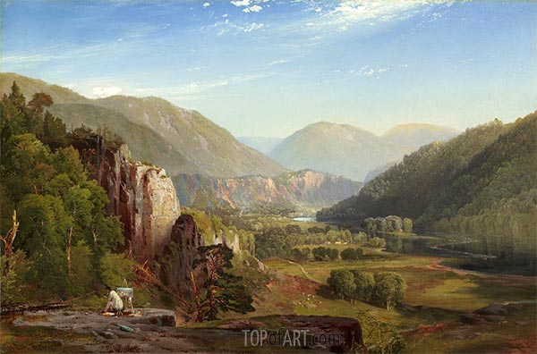 Die Juniata, Abend, 1864 | Thomas Moran | Gemälde Reproduktion
