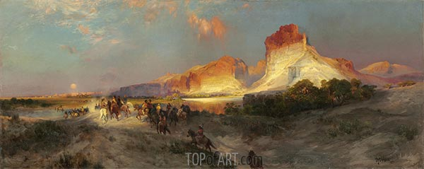 Green River Cliffs, Wyoming, 1881 | Thomas Moran | Painting Reproduction