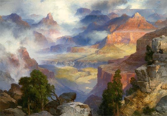 Grand Canyon in Mist, 1915 | Thomas Moran | Painting Reproduction