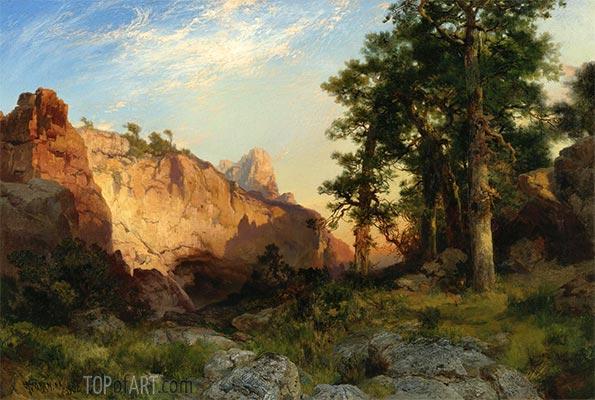 Coconino Pines and Cliff, Arizona, 1902 | Thomas Moran | Painting Reproduction