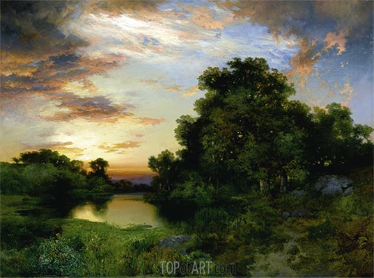 Sunset on Long Island, 1901 | Thomas Moran | Painting Reproduction
