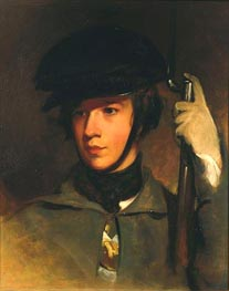 Portrait of Alfred Sully, 1839 by Thomas Sully | Painting Reproduction