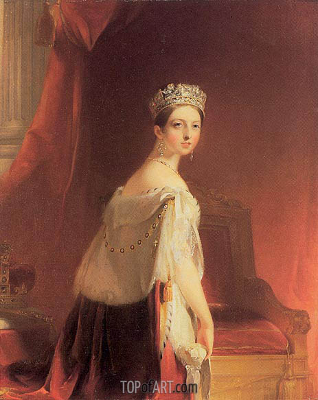 Queen Victoria, 1838 | Thomas Sully | Painting Reproduction