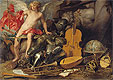 Amor Triumphant among Emblems of Art, Science and War | Thomas Willeboirts Bosschaert