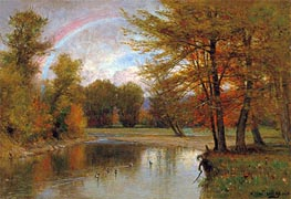 The Rainbow, Autumn, Catskill, c.1880/90 by Thomas Worthington Whittredge | Painting Reproduction
