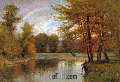 The Rainbow, Autumn, Catskill, c.1880/90 | Thomas Worthington Whittredge | Gemälde Reproduktion