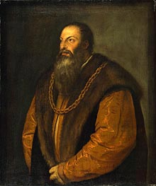 Portrait of Pietro Aretino, c.1548/51 by Titian | Painting Reproduction