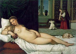 The Venus of Urbino, 1538 by Titian | Painting Reproduction