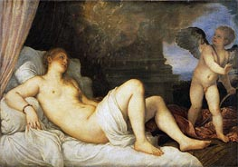 Danae, Undated by Titian | Painting Reproduction