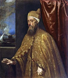Portrait of Doge Francesco Venier | Titian | outdated