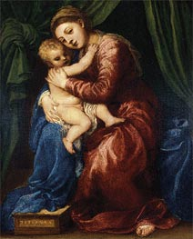 Madonna and Child, c.1540 von Titian | Gemälde-Reproduktion