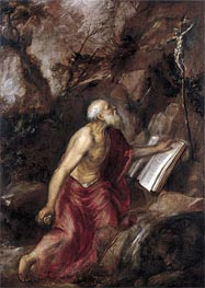 Saint Jerome in the Wilderness, c.1575 by Titian | Painting Reproduction