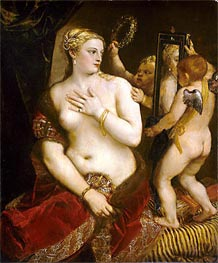Venus with a Mirror, 1555 by Titian | Painting Reproduction