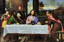The Supper at Emmaus, c.1535 by Titian | Painting Reproduction