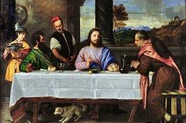Das Abendmahl in Emmaus, c.1535 von Titian | Gemälde-Reproduktion