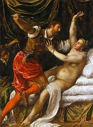 Tarquin and Lucretia, c.1571 by Titian | Painting Reproduction