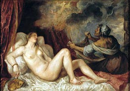 Danae receiving the Golden Rain | Titian | outdated