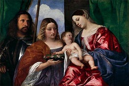 The Virgin and Child with Saints Dorothy and George, c.1515 by Titian | Painting Reproduction