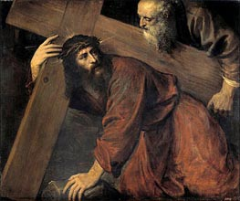 Christ and the Cyrenian, 1565 by Titian | Painting Reproduction