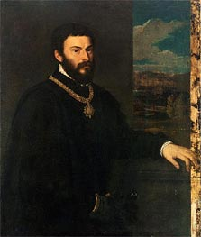 Portrait of Count Antonio Porcia, c.1535/40 by Titian | Painting Reproduction