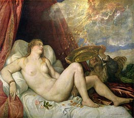 Danae, c.1554 by Titian | Painting Reproduction