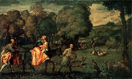 The Flight into Egypt, c.1508 by Titian | Painting Reproduction