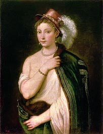 Portrait of a Young Woman, c.1536 by Titian   Painting Reproduction