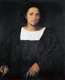 Man with a Glove, c.1517/20 by Titian   Painting Reproduction