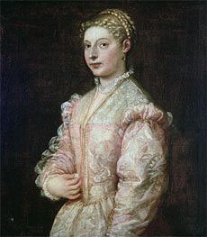Portrait of Lavinia Vecellio, Undated by Titian | Painting Reproduction