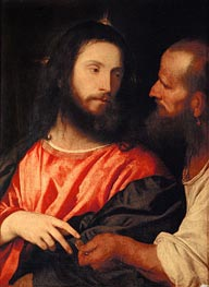 Tribute Money, c.1516 by Titian   Painting Reproduction