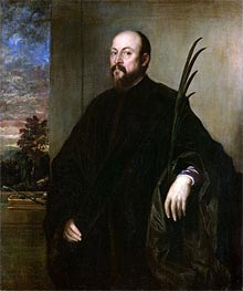 Portrait of a Man with a Palm, 1561 by Titian | Painting Reproduction
