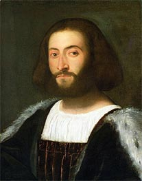 Portrait of a Man, c.1508/10 by Titian   Painting Reproduction