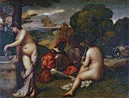 The Pastoral Concert | Titian | Gemälde-Reproduktion