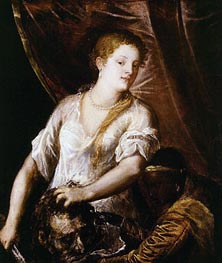 Judith with the Head of Holofernes, c.1570 by Titian | Painting Reproduction