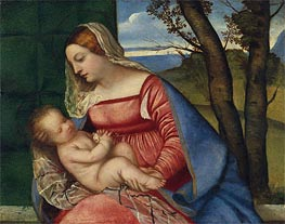 Madonna and Child, c.1510 by Titian | Painting Reproduction