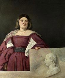 Portrait of a Lady (La Schiavona), c.1510/12 by Titian | Painting Reproduction