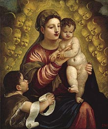 Virgin and Child with St. John, Undated by Titian | Painting Reproduction