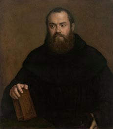 A Monk with a Book, c.1550 by Titian | Painting Reproduction