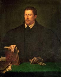 Portrait of Ippolito Riminaldi, c.1528 by Titian | Painting Reproduction