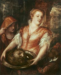 Salome with the Head of John the Baptist, undated by Titian | Painting Reproduction