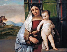 The Gypsy Madonna, c.1510 by Titian | Painting Reproduction