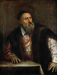 Self Portrait, 1562 by Titian | Painting Reproduction