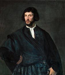 Portrait of a Man, undated by Titian | Painting Reproduction