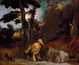 Saint Jerome, 1523 by Titian | Painting Reproduction