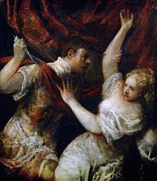 Tarquinius and Lucretia, 1570 by Titian | Painting Reproduction