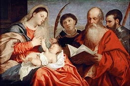 Saint Mary with Child and Saints Stephen, Jerome and Maurice | Titian | outdated