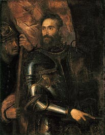 Portrait of Pierluigi Farnese with His Standard Bearer | Titian | outdated
