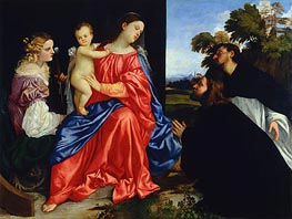Sacra Conversazione (Virgin and Child with Saints Catherine and Dominic) | Titian | Painting Reproduction